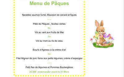 Votre Repas de Pâques disponible sur notre site